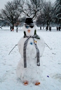 blue's brother, snowman style.